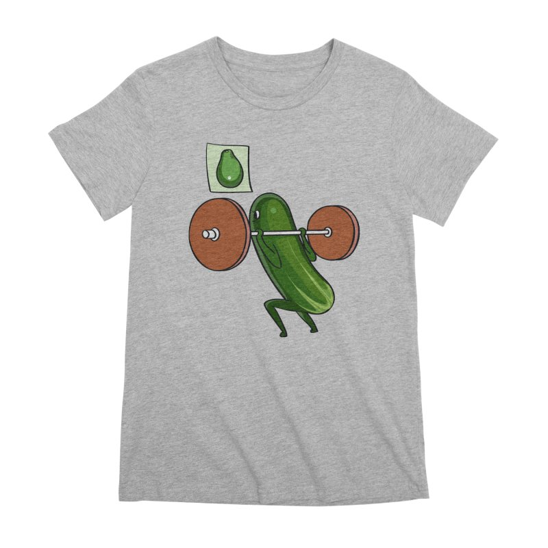 Cucumber Squats Women's Premium T-Shirt by huebucket's Artist Shop