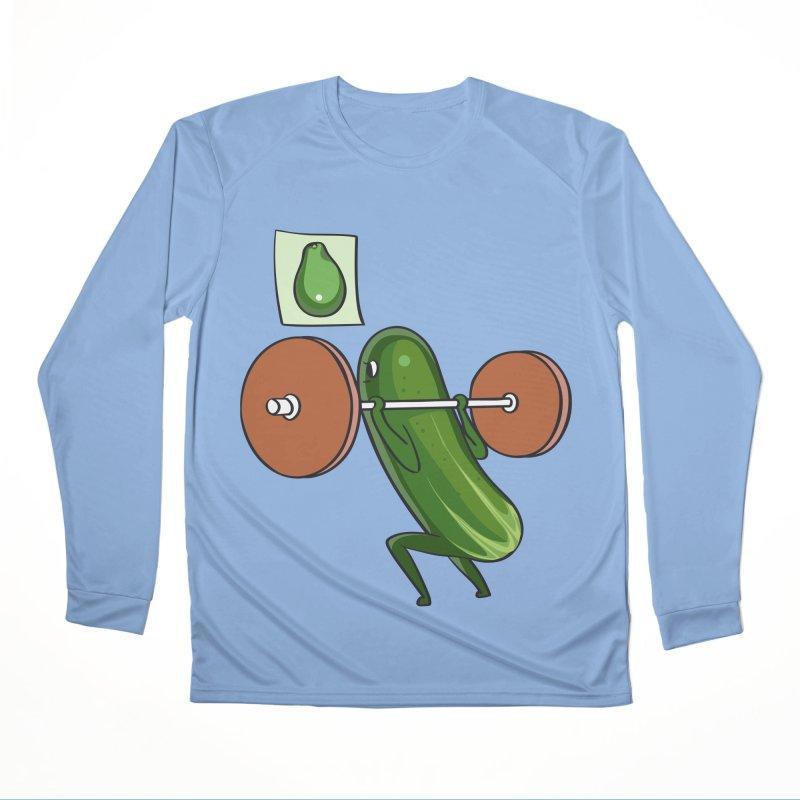 Cucumber Squats Men's Performance Longsleeve T-Shirt by huebucket's Artist Shop