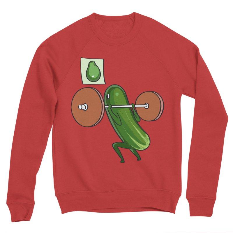 Cucumber Squats Men's Sponge Fleece Sweatshirt by huebucket's Artist Shop