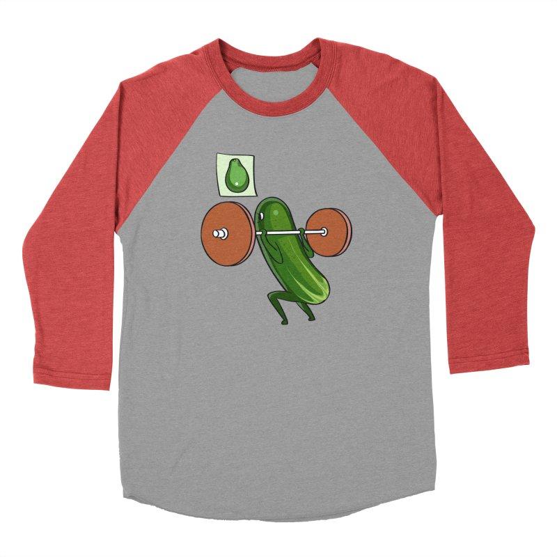 Cucumber Squats Men's Baseball Triblend Longsleeve T-Shirt by huebucket's Artist Shop