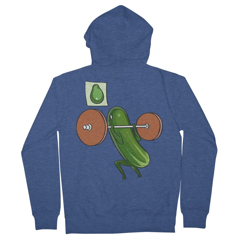 Cucumber Squats Women's French Terry Zip-Up Hoody by huebucket's Artist Shop