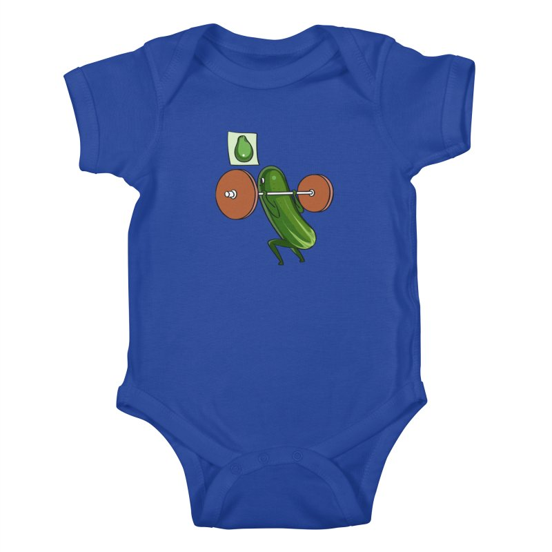Cucumber Squats Kids Baby Bodysuit by huebucket's Artist Shop