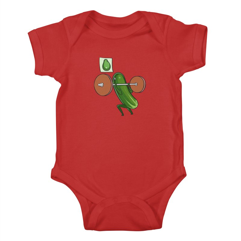 Cucumber Squats Kids Baby Bodysuit by huebucket's Artist Shop