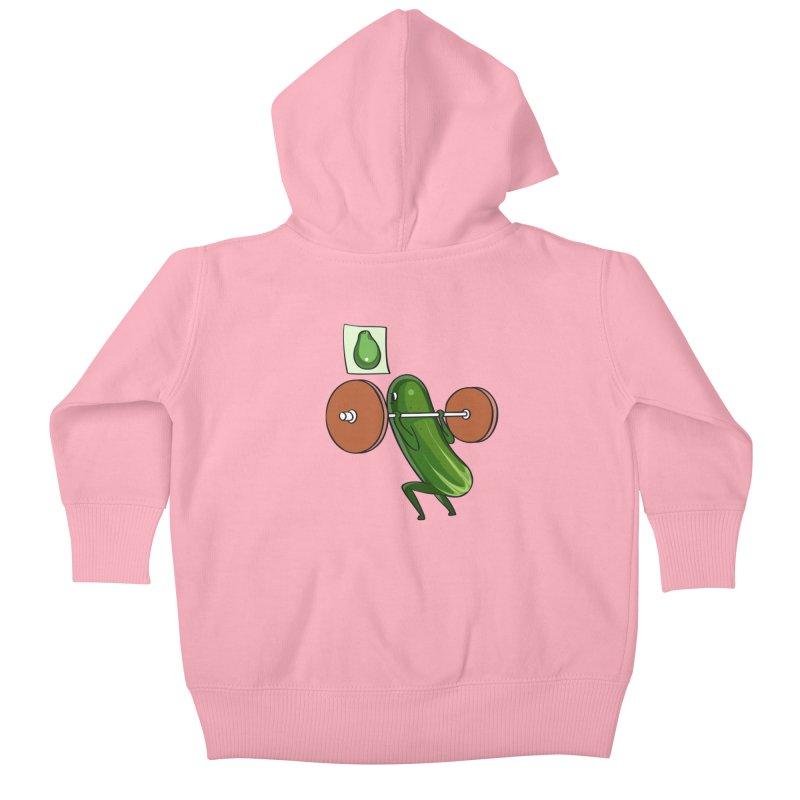 Cucumber Squats Kids Baby Zip-Up Hoody by huebucket's Artist Shop