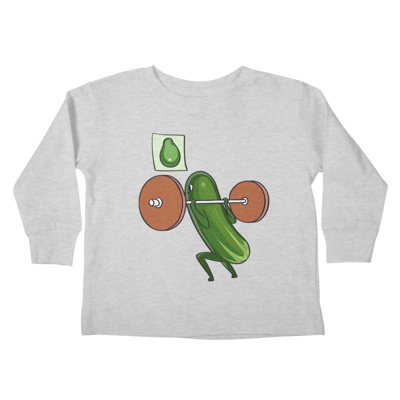 Cucumber Squats Kids Toddler Longsleeve T-Shirt by huebucket's Artist Shop