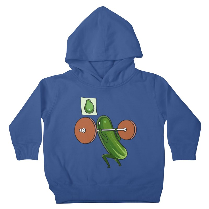 Cucumber Squats Kids Toddler Pullover Hoody by huebucket's Artist Shop