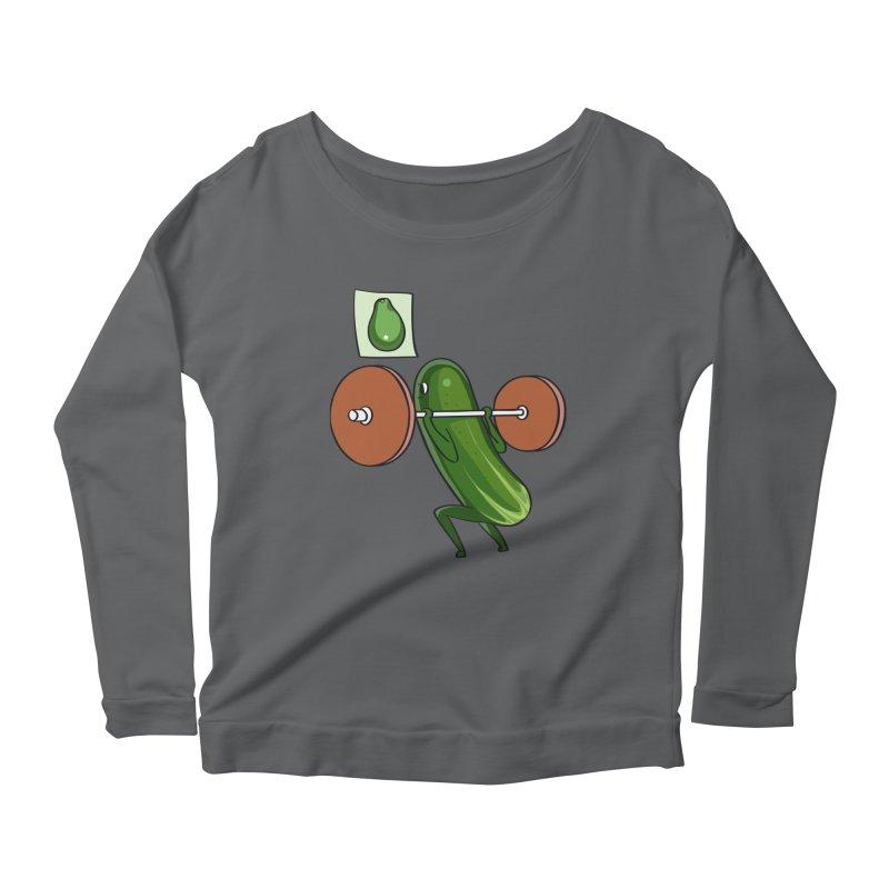 Cucumber Squats Women's Longsleeve T-Shirt by huebucket's Artist Shop