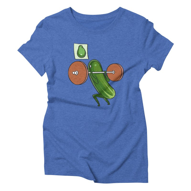 Cucumber Squats Women's Triblend T-Shirt by huebucket's Artist Shop
