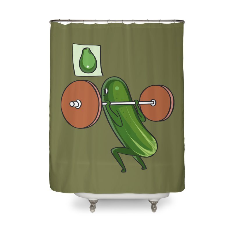 Cucumber Squats Home Shower Curtain by huebucket's Artist Shop