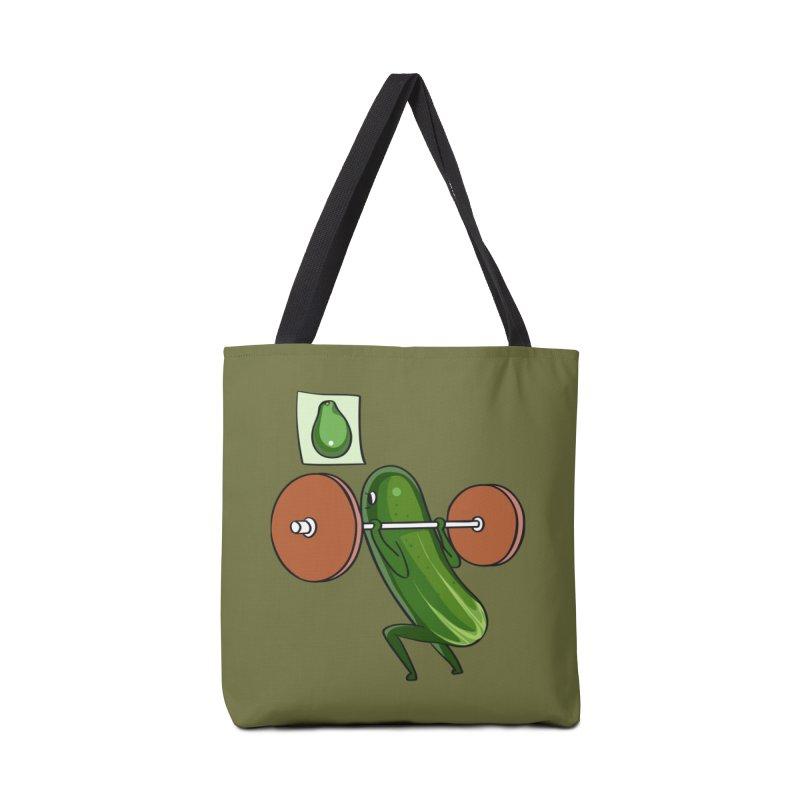 Cucumber Squats Accessories Bag by huebucket's Artist Shop
