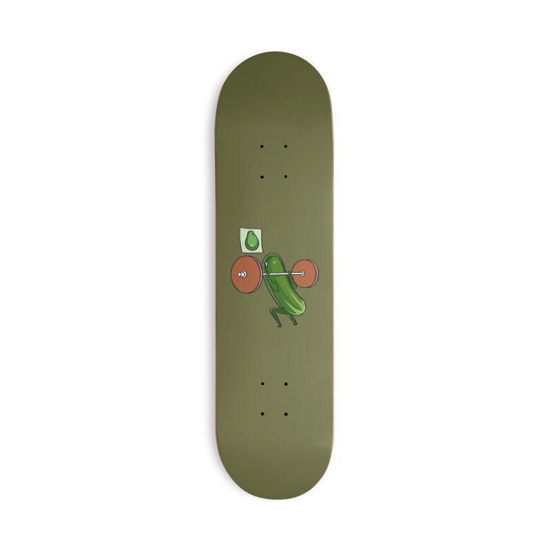 Cucumber Squats Accessories Deck Only Skateboard by huebucket's Artist Shop