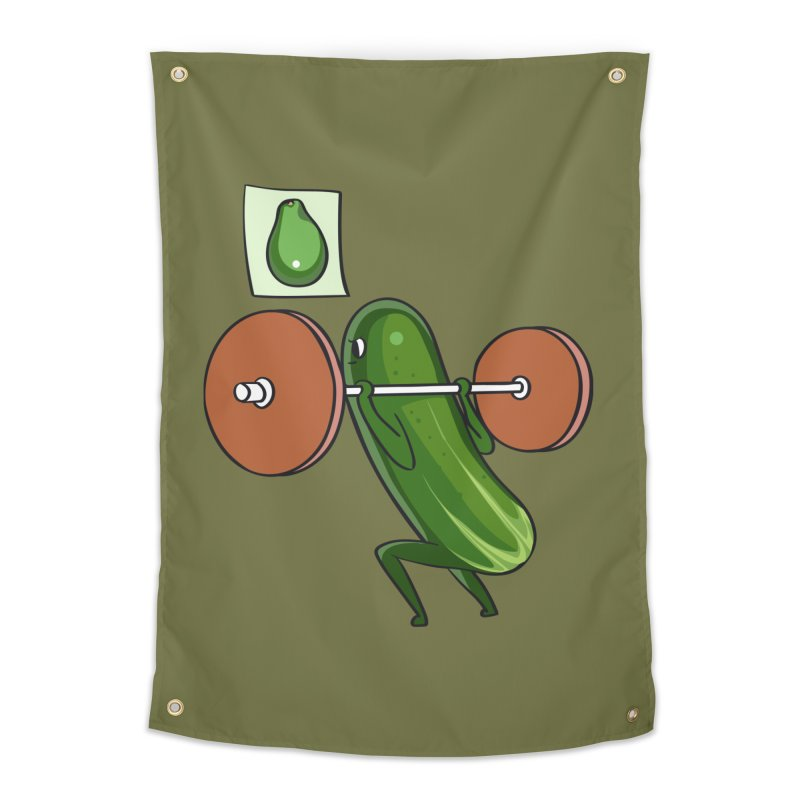 Cucumber Squats Home Tapestry by huebucket's Artist Shop