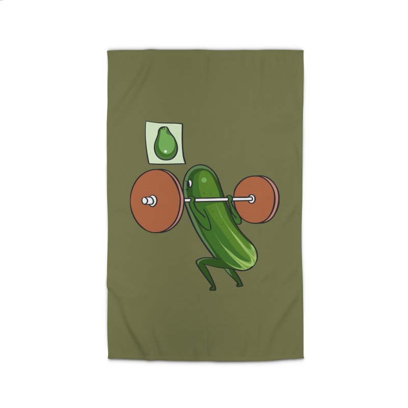Cucumber Squats Home Rug by huebucket's Artist Shop