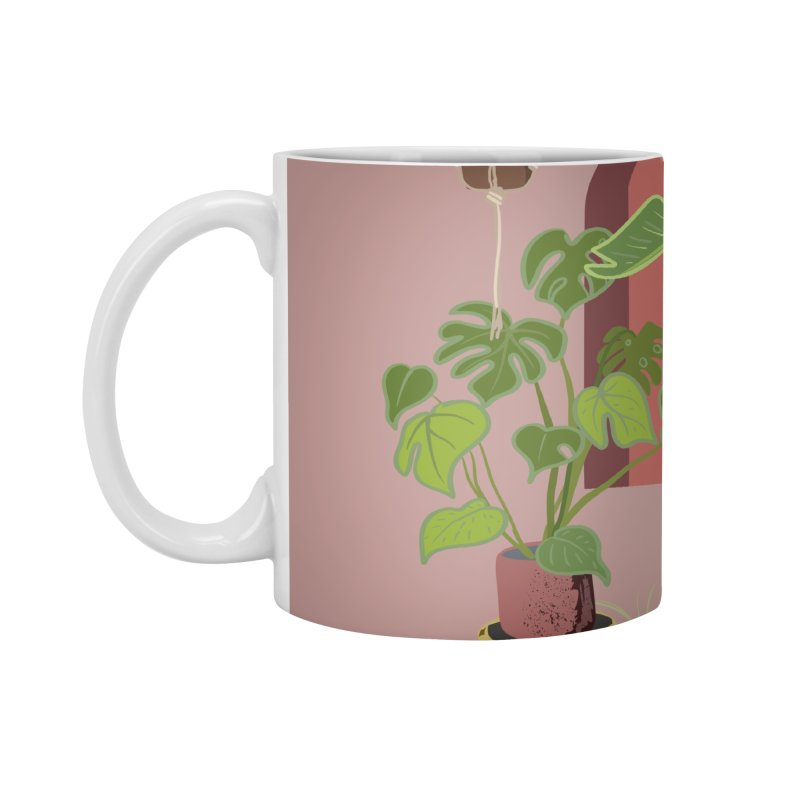 Pug Yoga with Plants Accessories Standard Mug by huebucket's Artist Shop