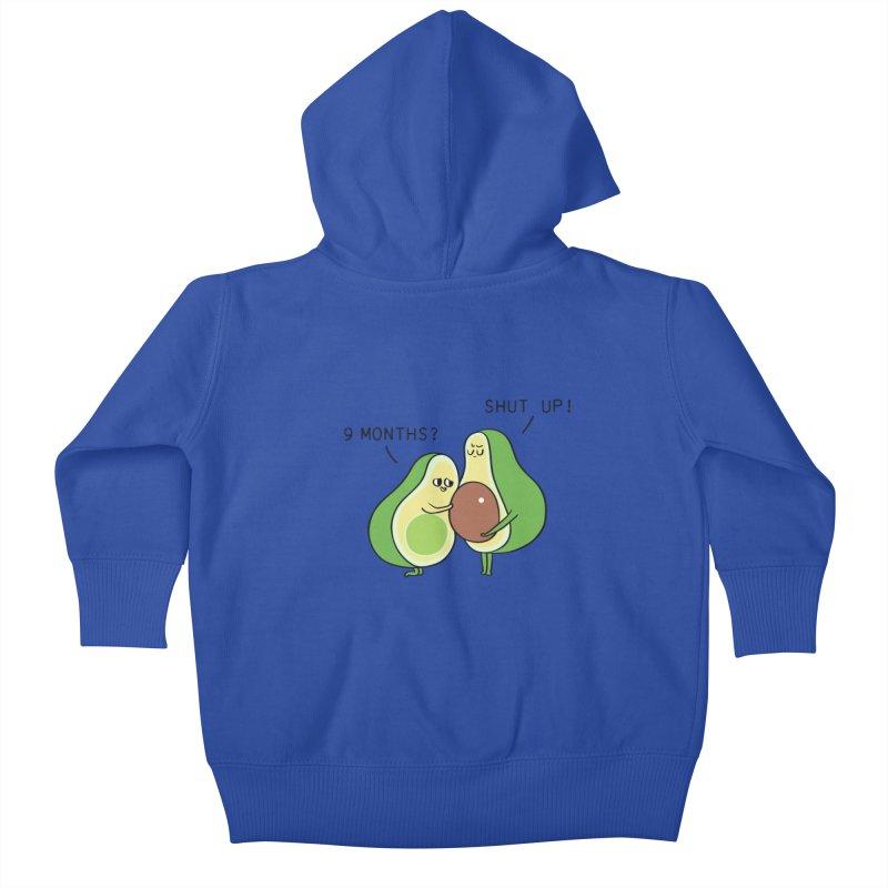 Good Fat Avocado Kids Baby Zip-Up Hoody by huebucket's Artist Shop