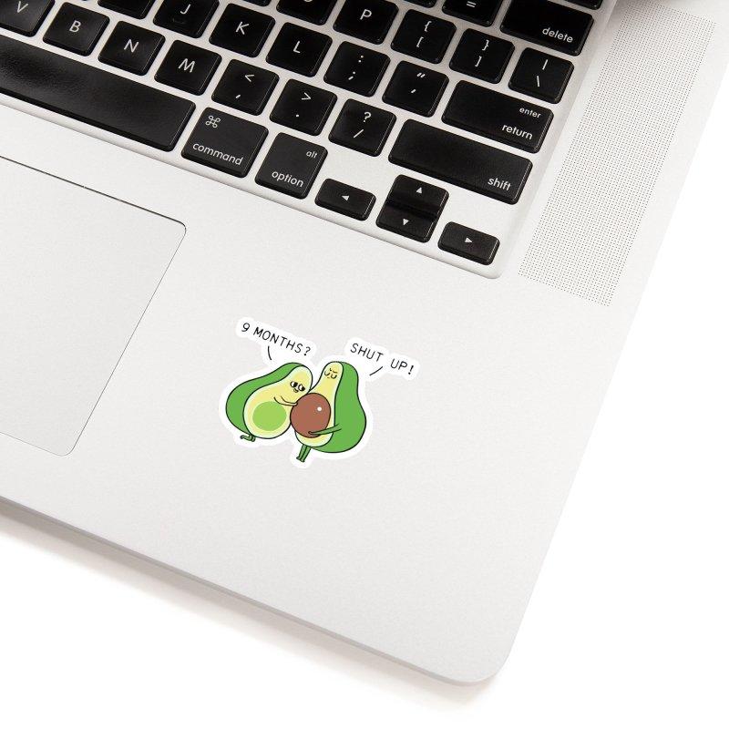 Good Fat Avocado Accessories Sticker by huebucket's Artist Shop