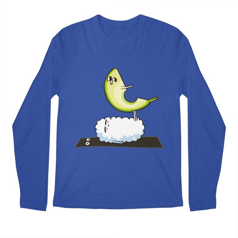 Acroyoga Avocado Nigiri Men's Regular Longsleeve T-Shirt by huebucket's Artist Shop