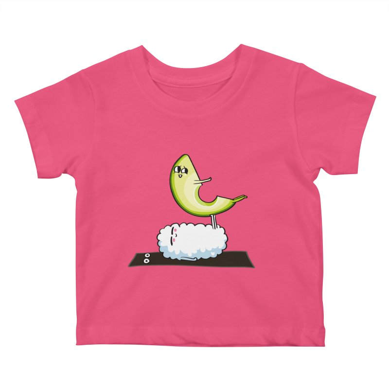 Acroyoga Avocado Nigiri Kids Baby T-Shirt by huebucket's Artist Shop