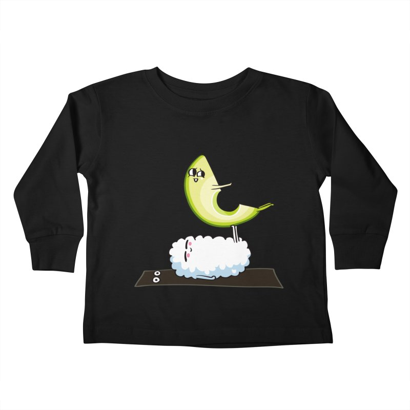 Acroyoga Avocado Nigiri Kids Toddler Longsleeve T-Shirt by huebucket's Artist Shop