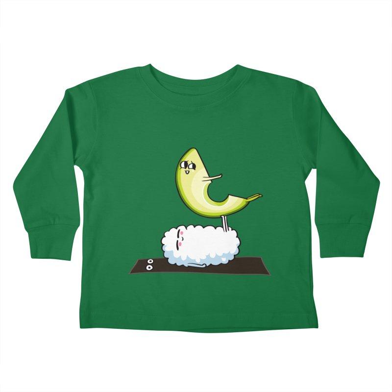 Acroyoga Avocado Nigiri Kids Toddler Longsleeve T-Shirt by huebucket's Artist Shop