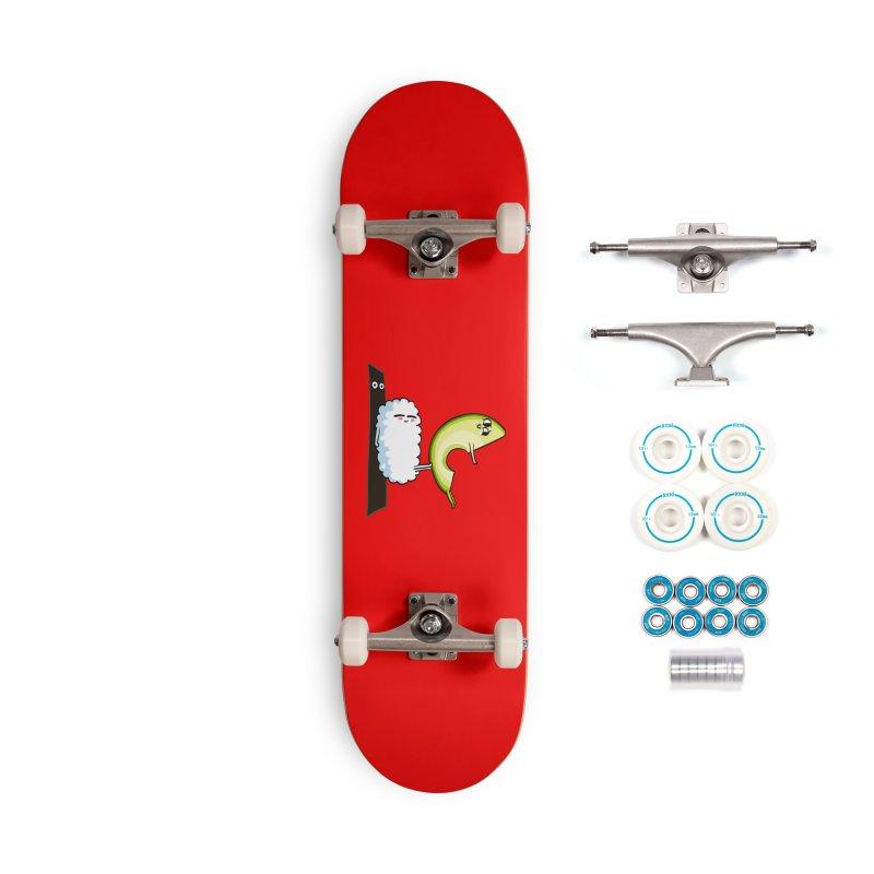 Acroyoga Avocado Nigiri Accessories Skateboard by huebucket's Artist Shop