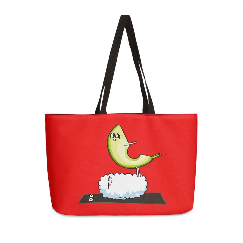 Acroyoga Avocado Nigiri Accessories Weekender Bag Bag by huebucket's Artist Shop