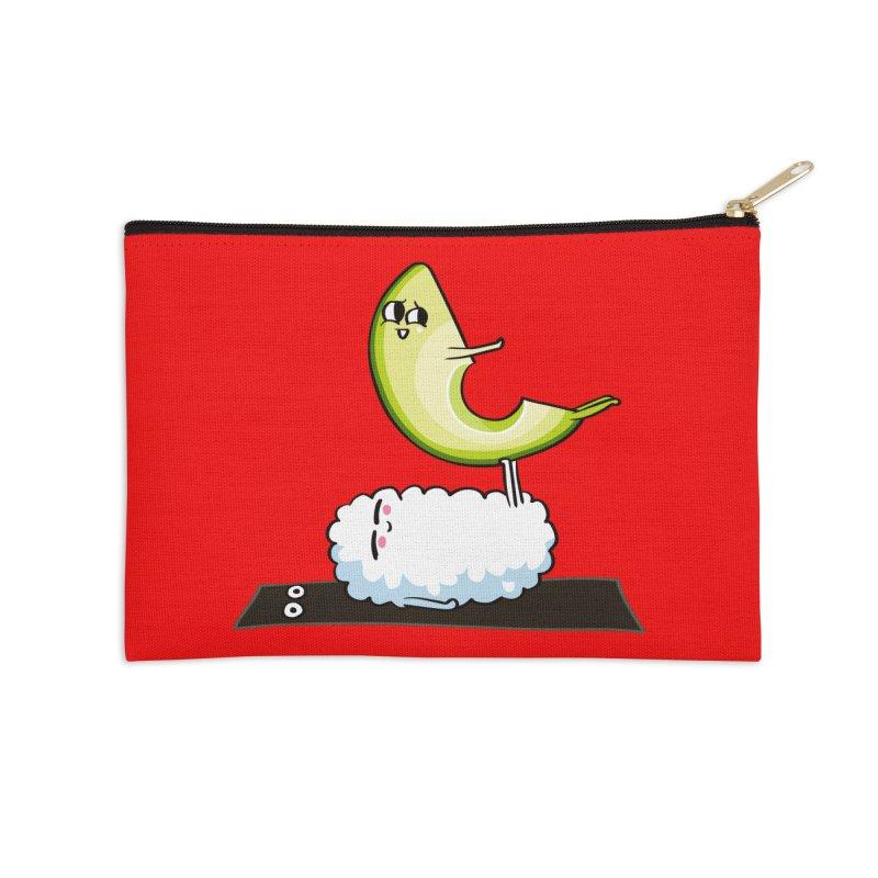 Acroyoga Avocado Nigiri Accessories Zip Pouch by huebucket's Artist Shop