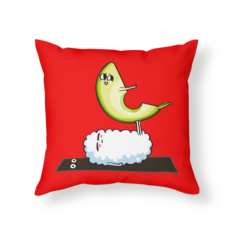 Acroyoga Avocado Nigiri Home Throw Pillow by huebucket's Artist Shop