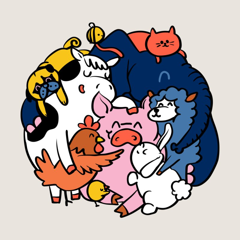 Vegan group hugs by huebucket's Artist Shop