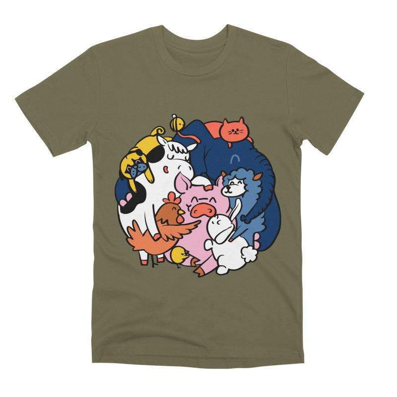 Vegan group hugs Men's Premium T-Shirt by huebucket's Artist Shop