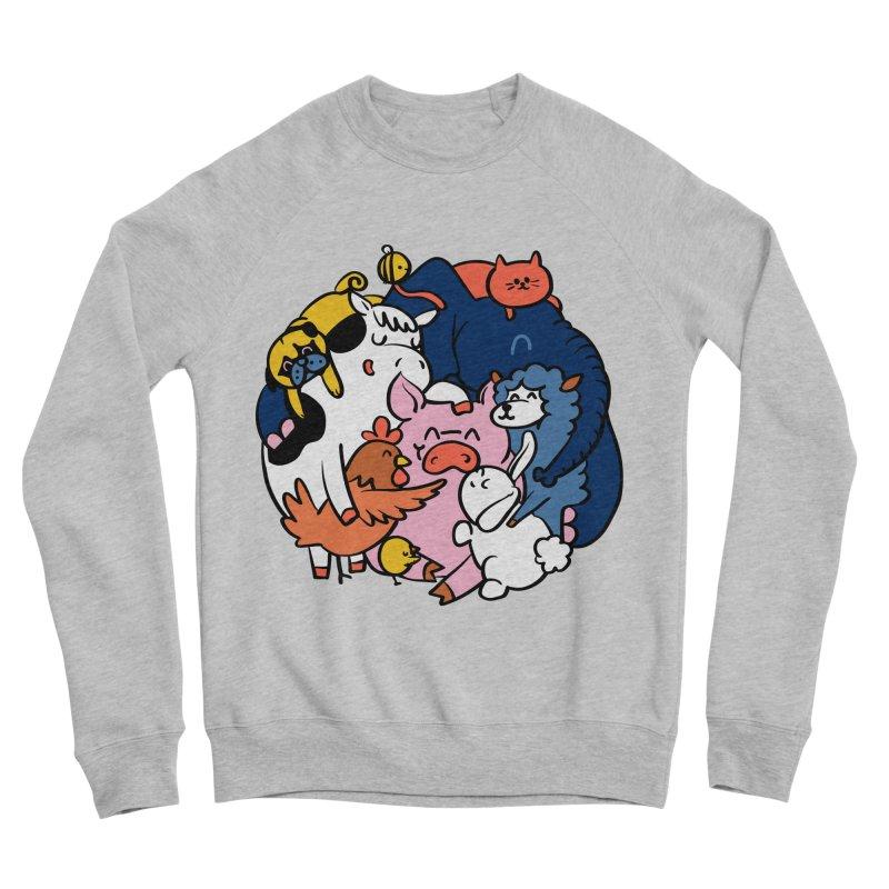 Vegan group hugs Men's Sponge Fleece Sweatshirt by huebucket's Artist Shop