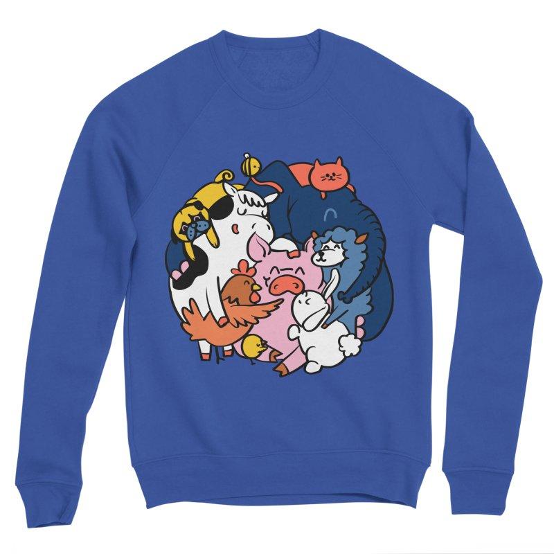 Vegan group hugs Men's Sweatshirt by huebucket's Artist Shop