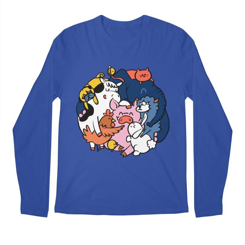 Vegan group hugs Men's Regular Longsleeve T-Shirt by huebucket's Artist Shop