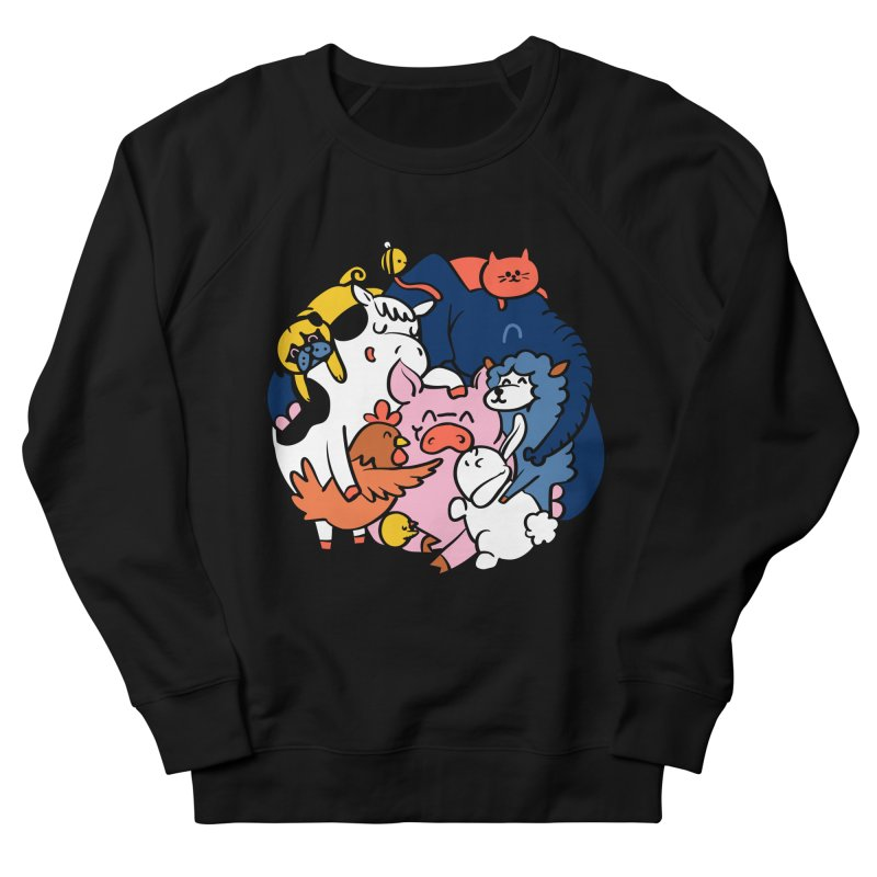 Vegan group hugs Women's French Terry Sweatshirt by huebucket's Artist Shop