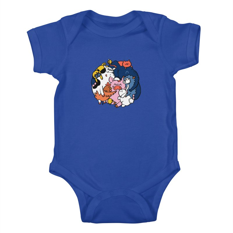 Vegan group hugs Kids Baby Bodysuit by huebucket's Artist Shop