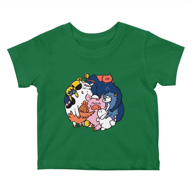 Vegan group hugs Kids Baby T-Shirt by huebucket's Artist Shop