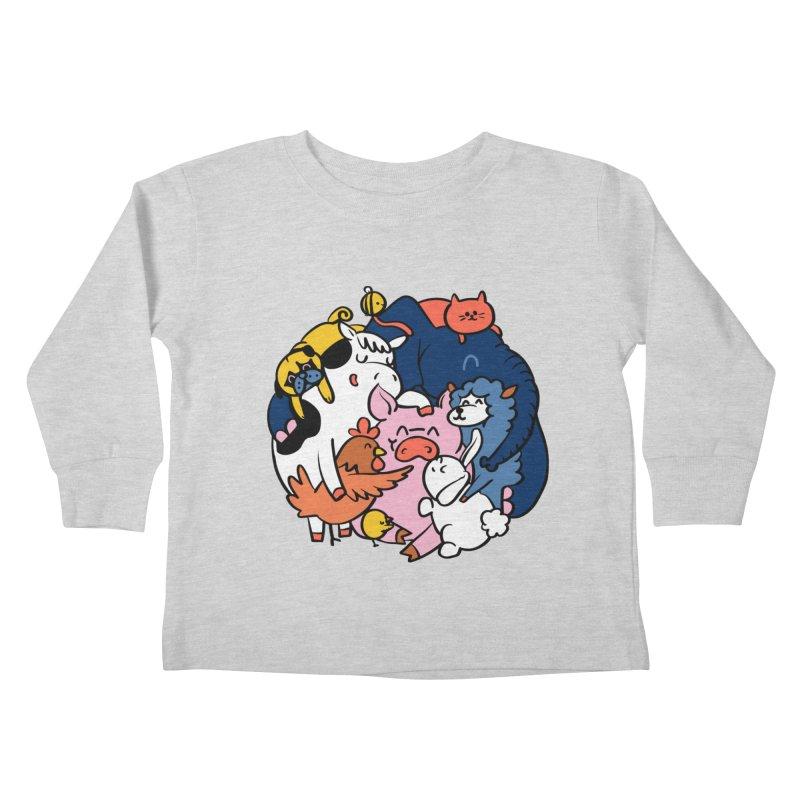 Vegan group hugs Kids Toddler Longsleeve T-Shirt by huebucket's Artist Shop