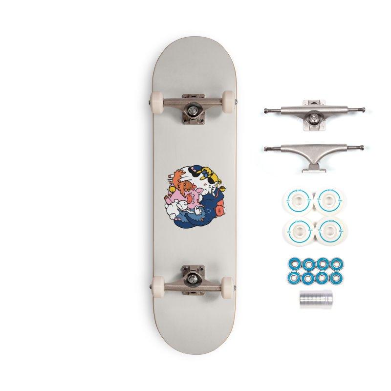 Vegan group hugs Accessories Complete - Basic Skateboard by huebucket's Artist Shop