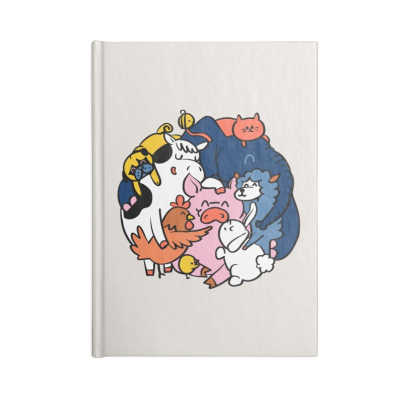 Vegan group hugs Accessories Blank Journal Notebook by huebucket's Artist Shop