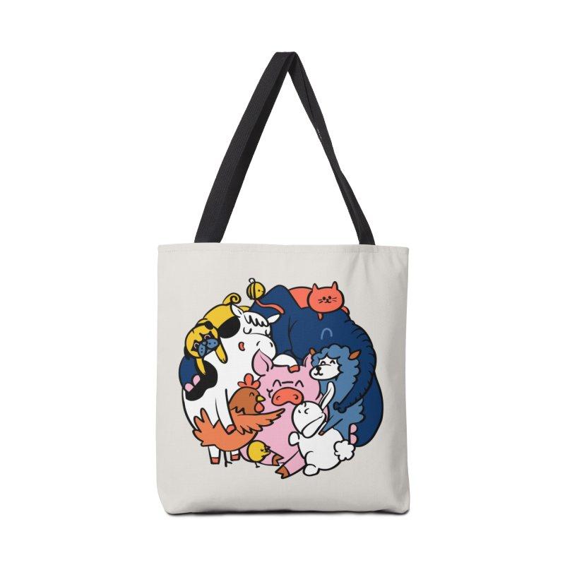 Vegan group hugs Accessories Tote Bag Bag by huebucket's Artist Shop