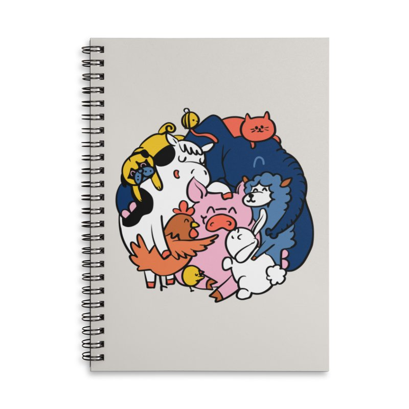 Vegan group hugs Accessories Lined Spiral Notebook by huebucket's Artist Shop