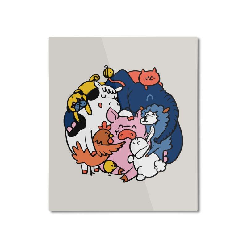 Vegan group hugs Home Mounted Aluminum Print by huebucket's Artist Shop
