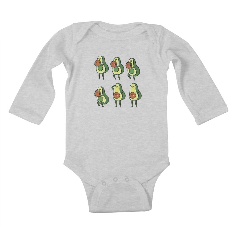 Avocado Goblet Squat Kids Baby Longsleeve Bodysuit by huebucket's Artist Shop