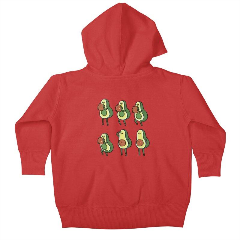 Avocado Goblet Squat Kids Baby Zip-Up Hoody by huebucket's Artist Shop