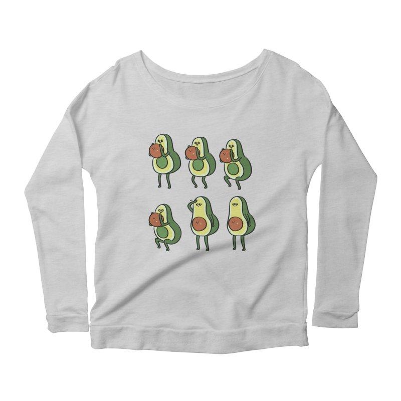 Avocado Goblet Squat Women's Scoop Neck Longsleeve T-Shirt by huebucket's Artist Shop
