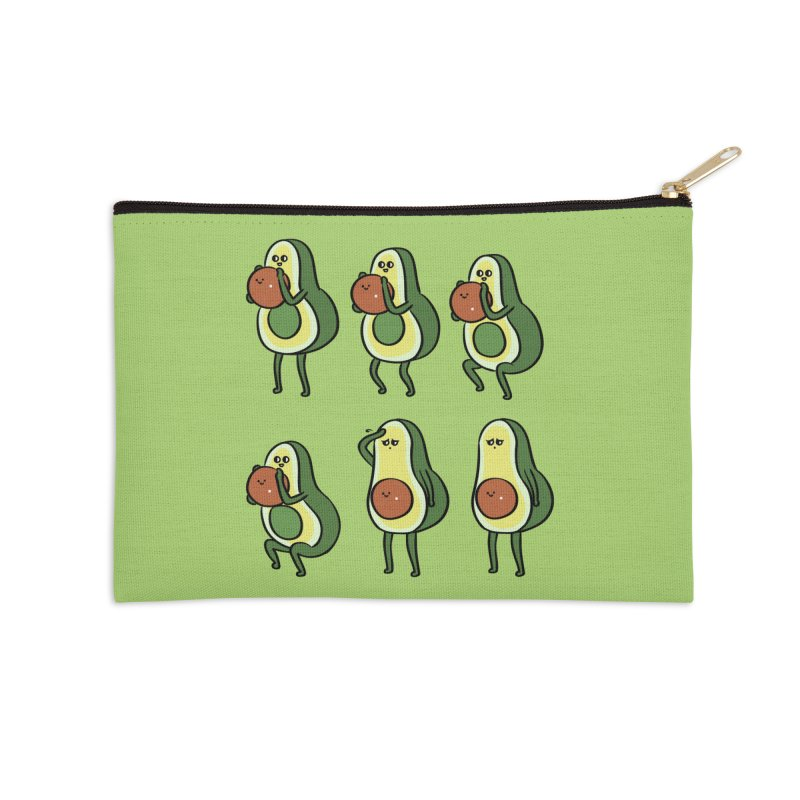 Avocado Goblet Squat Accessories Zip Pouch by huebucket's Artist Shop
