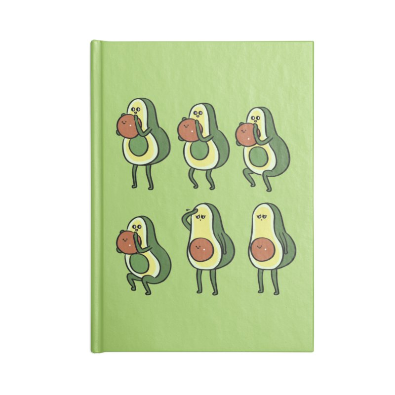 Avocado Goblet Squat Accessories Blank Journal Notebook by huebucket's Artist Shop