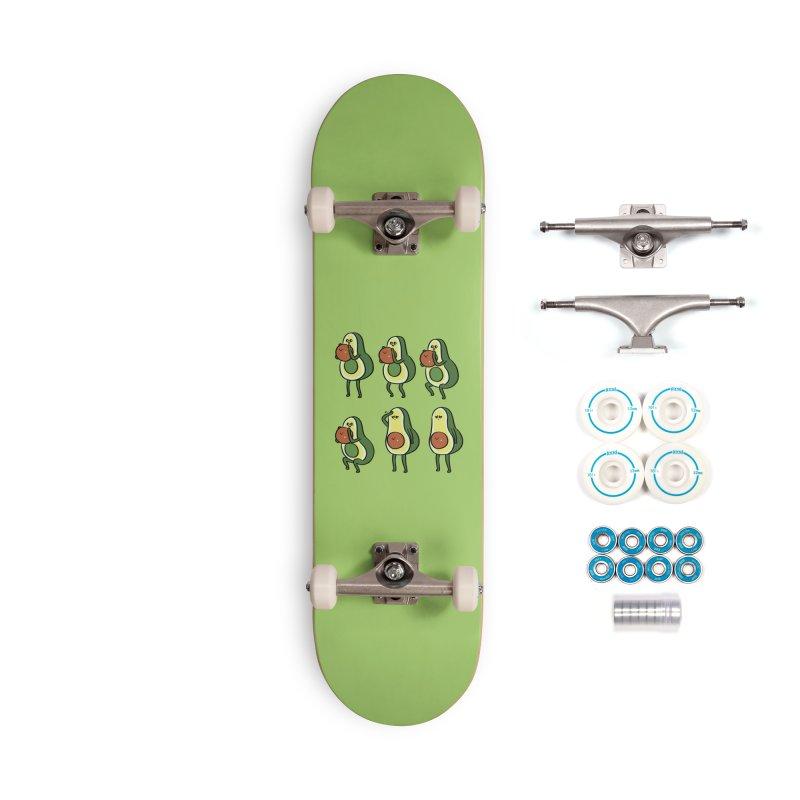 Avocado Goblet Squat Accessories Skateboard by huebucket's Artist Shop