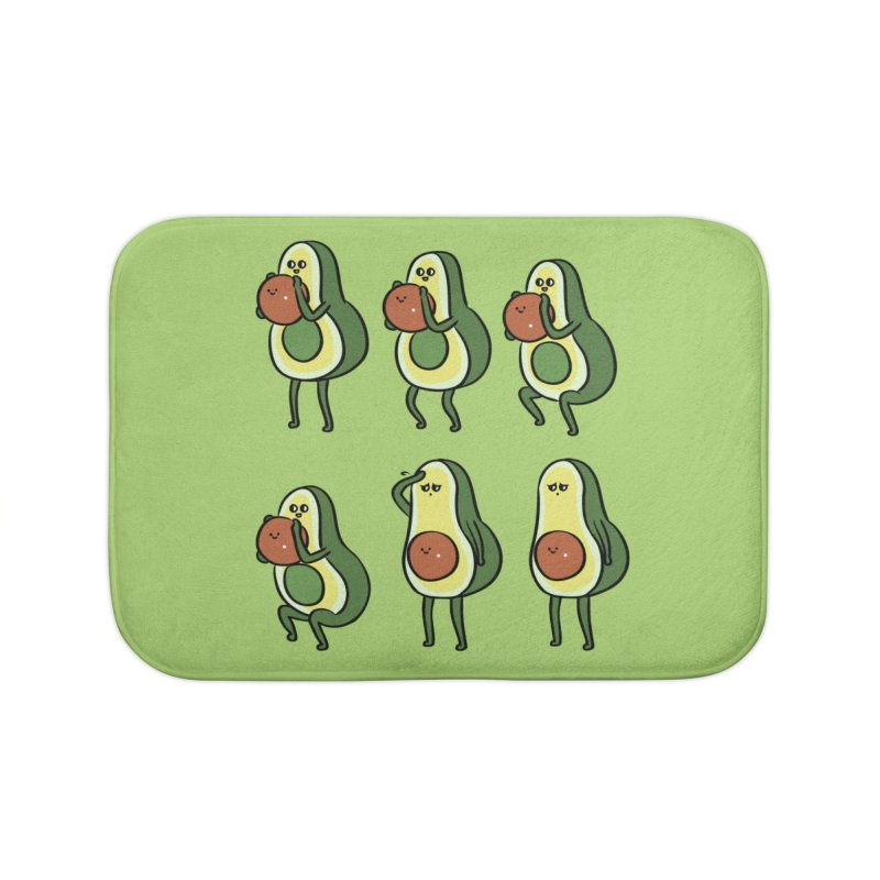 Avocado Goblet Squat Home Bath Mat by huebucket's Artist Shop
