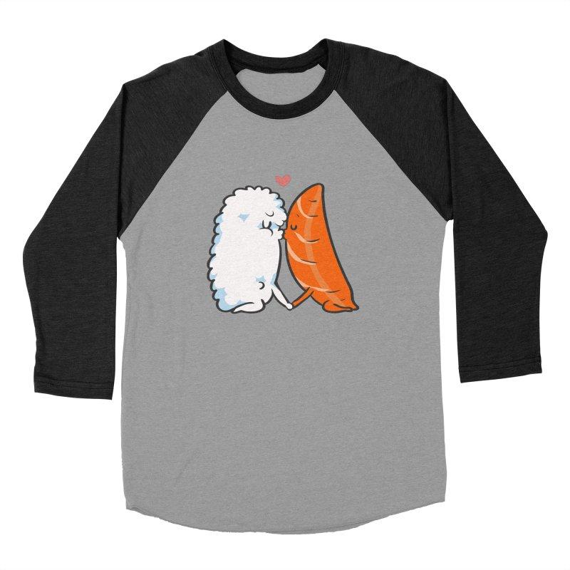 Sushi Kisses Men's Baseball Triblend Longsleeve T-Shirt by huebucket's Artist Shop
